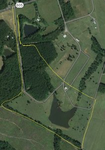 Rough estimation of property line, with some flexibility remaining.