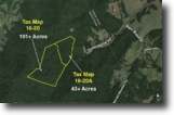 144 +/- Acres:  2 Adjacent Timber Tracts
