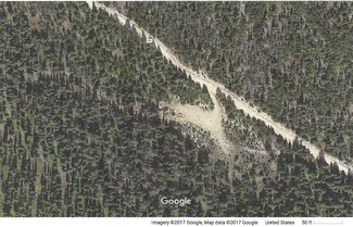 Satellite view camping area on the claim