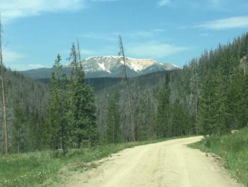claim road and views colorado
