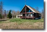Tennessee Farm Land 50 Acres 50 ac 2 Story Log Siding Hm, Garage, Views