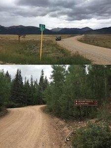 Entry road to claim