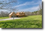 Custom Built Log Home on 10 acres