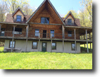 Log Home in Independence NY Pond 123 Acres