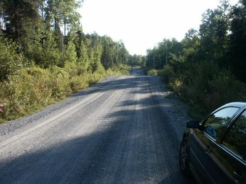 land road with power at the land quebec