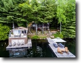 Ontario Waterfront 2 Acres Waterfront Cottage, Boat House & Land