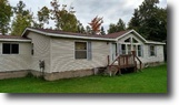 Michigan Waterfront 2 Acres 3br 2 ba Mobile Home on Lake Superior