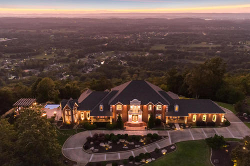house & beautiful estate with land views property ooltewah tennessee