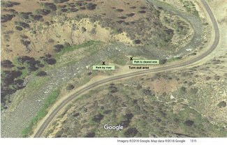 Car trail and walking trail to river.See larger pdf file view lower left on the listing.