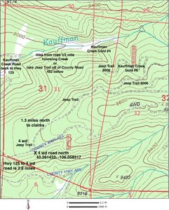 Claim Topography directions map,See larger pdf file maps lower left on listing.