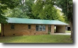 Tennessee Land 1 Acres 1+ Ac w/Brick Ranch In A Small Rural Town