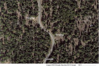 Camping spots on claim road