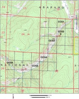 Claim topography map