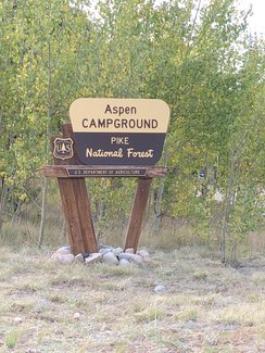 One of several campgrounds