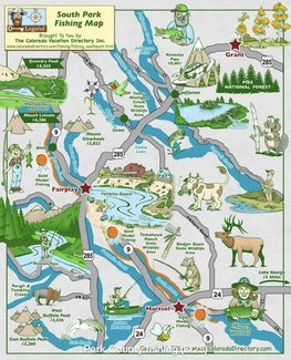 Area fishing map