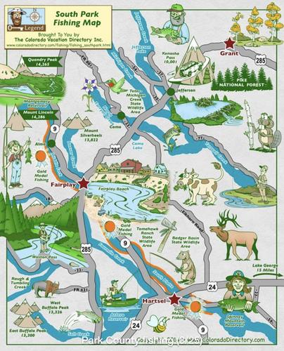 area fishing map colorado