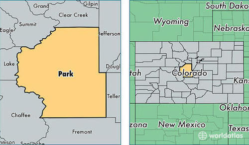 park county location map colorado