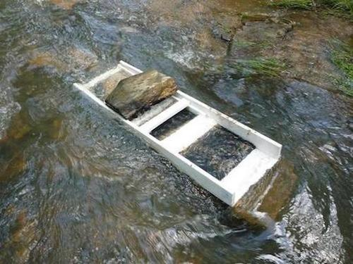 creek powered sluice box colorado