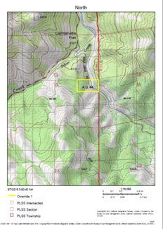 Alpine Gold #4 Notice of Location Map