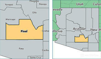 Pinal County location map