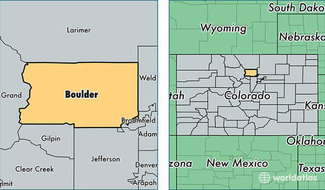 Boulder County location map