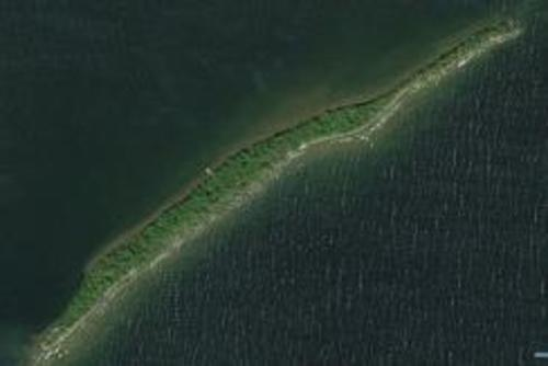 aerial of dog island ontario