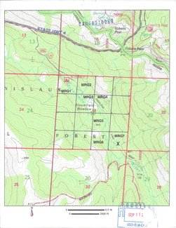 Claim BLM registered topo map