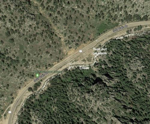 claim turn out off hwy satellite view colorado