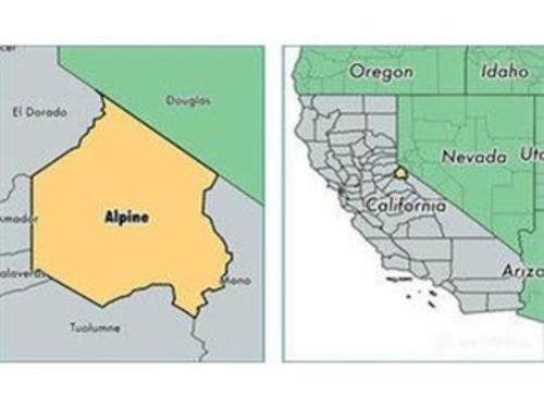 alpine county location map california