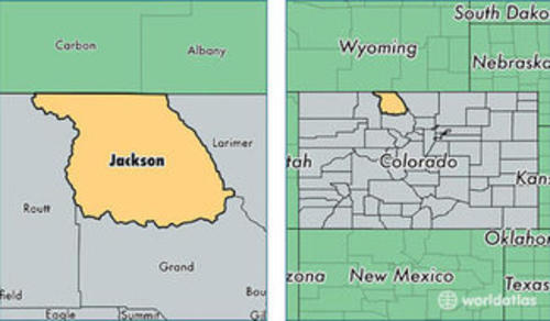 jackson county location map colorado