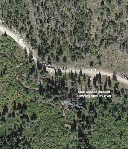 claim side road camping spot satellite view colorado