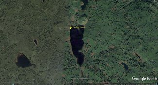 Satellite view of land zoomed out