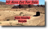 Nevada Ranch Land 40 Acres Get off the Grid with your Outdoor Toys!!