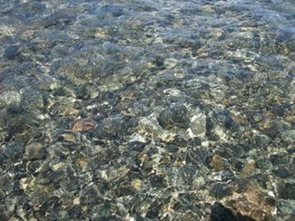 Clearness of the river