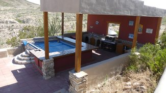 Outdoor kitchen and filtered cool pool