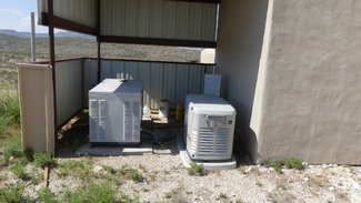 Large water cooled and smaller air cooled generators