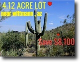 4.12 Acre Lot For Sale Located in Arizona