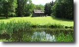 3 acres Cabin and Barn in McDonough NY
