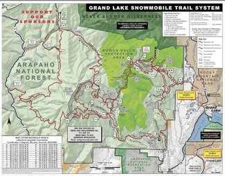 Snowmobile trails map