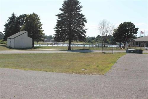 commercial building lake view property manistique michigan