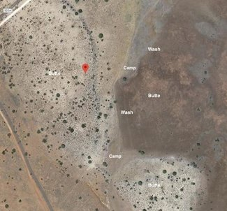 Camping spots satellite view