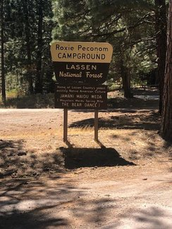 Nearby free campground