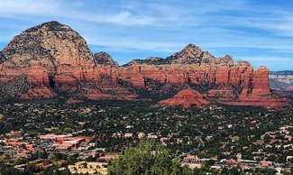 Nearby town of Sedona