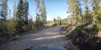 Forest Road 740 on way to the claim