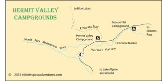 Nearby campground map