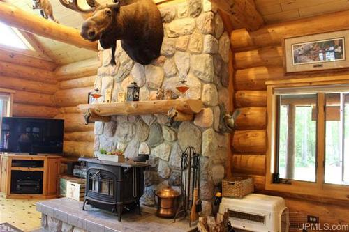 white pine lodge log home property amasa michigan