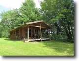 Michigan Land 120 Acres Rustic Log Cabin 1122633