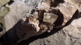 Fluorite used for jewelry on our claim