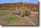 New York Hunting Land 33 Acres Log Home in Troupsburg NY 105 Morehouse Rd