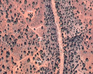 Satellite view camping spots
